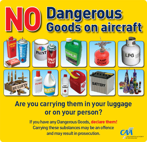 No dangerous goods on aircraft.