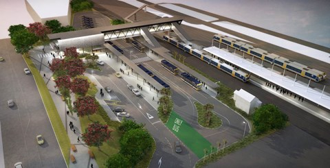 Concept image of the new Ōtāhuhu Station.