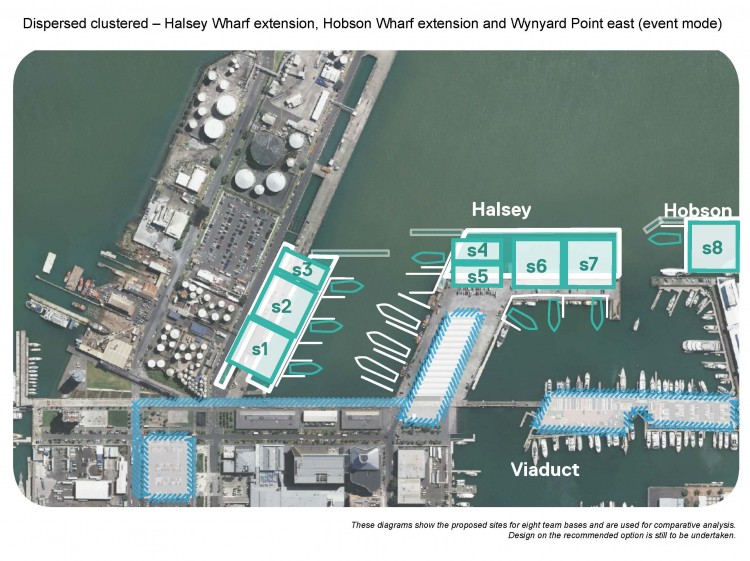 Dispersed - Halsey Wharf,  Hobson Wharf and  Wynyard Point East
