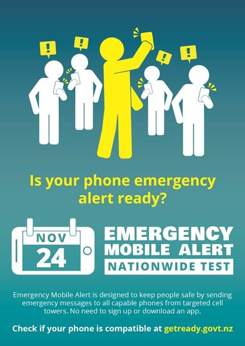 Nationwide Emergency Mobile Alert test this Sunday (1)