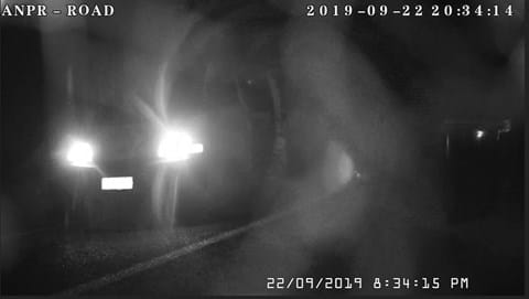 A van dumping tyres was spotted on a home security camera