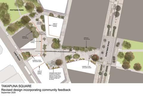 Community feedback strengthens Takapuna town square design