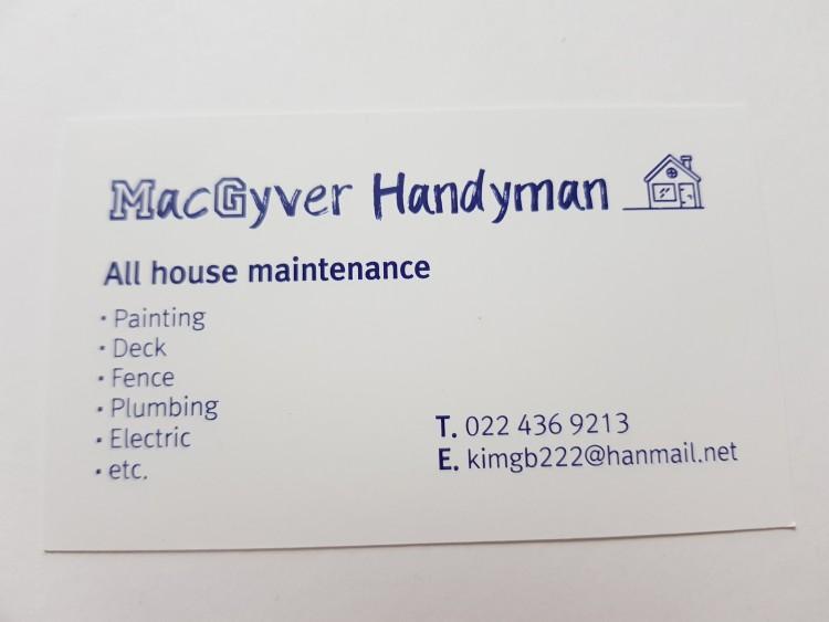 도움의 손길이 필요합니까. Mac Gyver Handyman으로 연락주세요