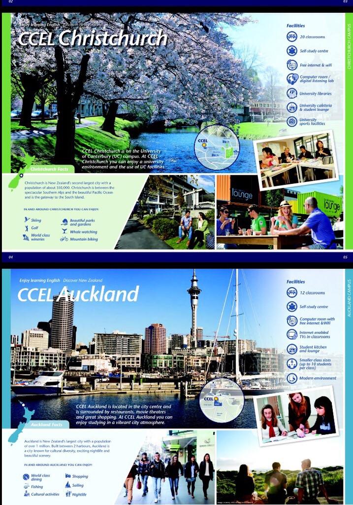 전 세계 대학 순위 top 3%에 속한  University of Canterbury 그리고 UCIC(UC International college 부속 어학원으로 명성이 높은 CCEL